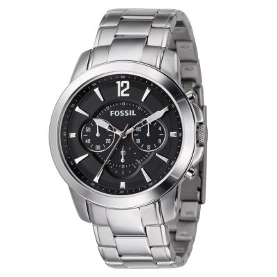 620-539 - Fossil Men's Quartz Chronograph Stainless Steel Bracelet Watch