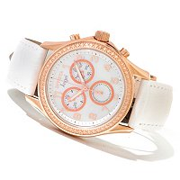INVICTA WOMEN'S ANGEL QUARTZ MOP DIAL STRAP WATCH W/ COLLECTOR'S BOX