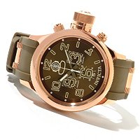 INVICTA MEN'S RUSSIAN DIVER QUARTZ CHRONOGRAPH PU STRAP WATCH