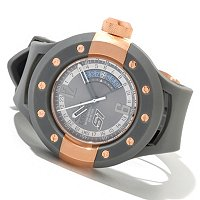 INVICTA MEN'S S1 RALLY QUARTZ GMT PU STRAP WATCH