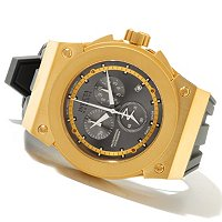 INVICTA RESERVE MEN'S AKULA SWISS MADE QUARTZ CHRONO SILICONE STRAP WATCH