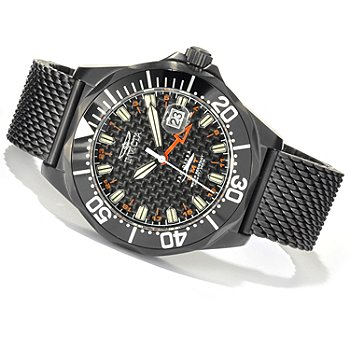 620-685 - Invicta Men's Pro Diver Swiss Made Quartz GMT Mesh Stainless Steel Bracelet Watch
