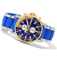 INVICTA MEN'S SEA SPIDER QUARTZ CHRONO STAINLESS STEEL/PU BRACELET WATCH