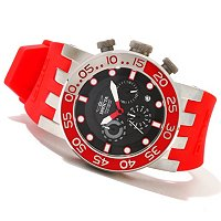 INVICTA MEN'S DNA DIVER QUARTZ CHRONOGRAPH PU STRAP WATCH