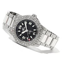 Gevril Men's Sea Cloud Swiss Made GMT Automatic Stainless Steel Bracelet Watch