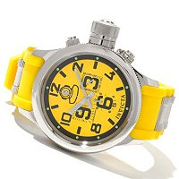 INVICTA MENS'S RUSSIAN DIVER QUINOTAR QUARTZ CHRONO RUBBER STRAP WATCH W/3DC