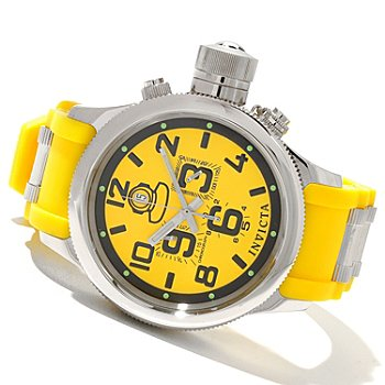 620-706 - Invicta Men's Russian Diver Quinotar Quartz Chronograph Strap Watch w/ Three-Slot Dive Case