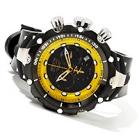 INVICTA RESERVE MEN'S VENOM SWISS MADE QUARTZ CHRONOGRAPH PU STRAP WATCH