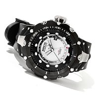 INVICTA RESERVE MEN'S VENOM SWISS MADE QUARTZ GMT RIVER PEARL DIAL STRAP WATCH