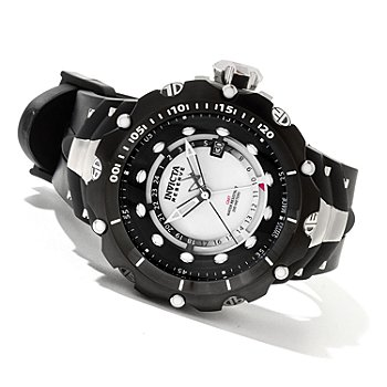 620-712 - Invicta Reserve Men's Venom Gen II Swiss Made Quartz GMT River Pearl Dial Strap Watch