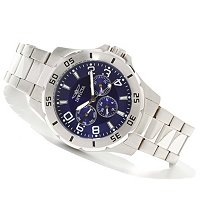 INVICTA MEN'S SPECIALTY QUARTZ MASTER CALENDAR BRACELET WATCH W/COLLECTOR'S BOX