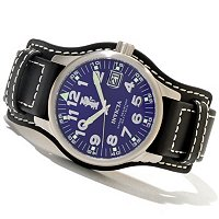 INVICTA MEN'S I FORCE LEGARTO QUARTZ DATE LEATHER STRAP WATCH W/COLLECTOR'S BOX