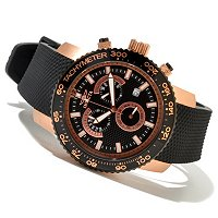 INVICTA MEN'S SPECIALTY QUARTZ CHRONOGRAPH STRAP WATCH W/COLLECTOR'S BOX