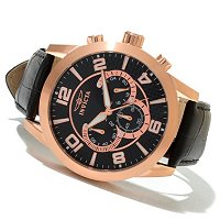 INVICTA MEN'S SPECIALTY QUARTZ CHRONO CARBON FIBER DIAL STRAP WATCH
