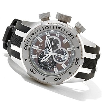 620-728 - Invicta Reserve Men's Bolt II Swiss Made Quartz Chronograph Strap Watch w/ 3-Slot Dive Case