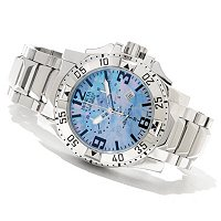 INVICTA RESERVE MENS EXCURSION SWISS QUARTZ CHRONO MOP DIAL BRACELET W/3DC