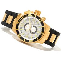 INVICTA MEN'S CORDUBA DIVER QUARTZ CHRONOGRAPH STAINLESS STEEL/PU BRACELET WATCH