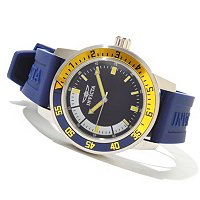 INIVCTA MEN'S SPECIALTY SPORT DIVER QUARTZ STRAP WATCH W/COLLECTOR'S BOX