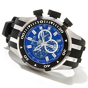 620-748 - Invicta Reserve Men's Bolt II Swiss Made Quartz Chronograph Strap Watch w/ 3-Slot Dive Case
