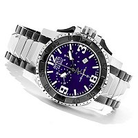 INVICTA RESERVE MEN'S EXCURSION SWISS CHRONO STAINLESS BRACELET WATCH W/ 3DC