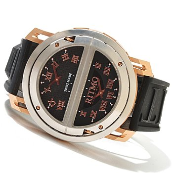 620-752 - Ritmo Mundo Men's Persepolis Limited Edition Swiss Made Quartz Rubber Strap Watch