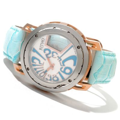 620-754 - Ritmo Mundo Women's Persepolis Limited Edition Swiss Made Quartz Leather Strap Watch
