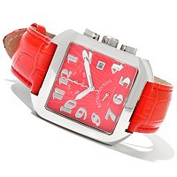 RITMO MUNDO MID-SIZE PIAZZA ITALIAN DESIGN QUARTZ LEATHER STRAP WATCH