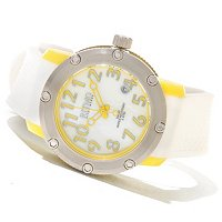 RITMO MUNDO LADIES CARNIVAL MOP DIAL SWISS QUARTZ RUBBER STRAP WATCH