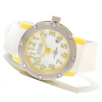 620-763 - Ritmo Mundo Women's Carnival Swiss Made Quartz Mother-of-Pearl Dial Polyurethane Strap Watch
