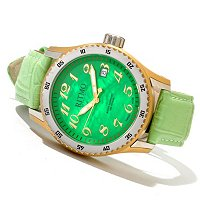 RITMO MUNDO LADIES EXTREME MOP DIAL SWISS QUARTZ LEATHER STRAP WATCH