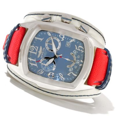620-849 - Invicta Men's Dragon Lupah Legarto Quartz Chronograph Genuine Leather Strap Watch