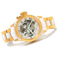 INVICTA WOMEN'S RUSSIAN DIVER ANNIV ED QUARTZ CAMO DIAL BRACELET WATCH