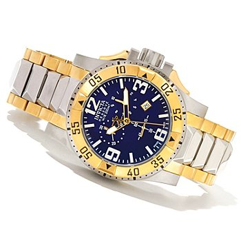 620-860 - Invicta Reserve Men's Excursion Swiss Made Quartz Chronograph Stainless Steel Bracelet Watch