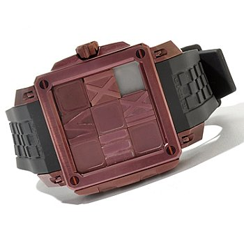 620-864 - Ritmo Mundo Men's Puzzle Limited Edition Swiss Made Automatic Rubber Strap Watch