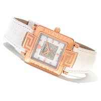 Versace Women's Reve Carre MOP Swiss Made Quartz Strap Watch