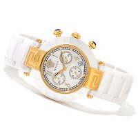 Versace Women's Reve MOP Swiss Made Quartz Ceramic Bracelet Watch