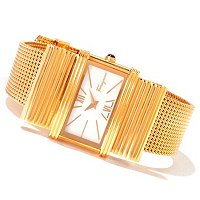 Ferragamo Women's Renaissance MOP Swiss Made Quartz Mesh Bracelet Watch