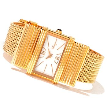 620-872 - Ferragamo Women's Renaissance Swiss Made Quartz Mesh Bracelet Watch