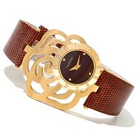 Valentino Women's Rosier Swiss Made Quartz Lizzard Strap Watch