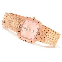 Oniss Women's Stainless Steel Textured Bracelet Watch