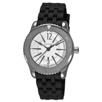 620-964 - Azzaro Men's Coastline Swiss Made Quartz Rubber Strap Watch
