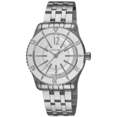 620-966 - Azzaro Men's Coastline Swiss Made Quartz Stainless Steel Bracelet Watch