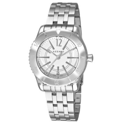 620-968 - Azzaro Men's Coastline Swiss Made Quartz Stainless Steel Bracelet Watch
