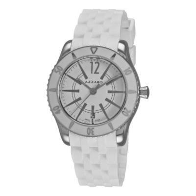 620-974 - Azzaro Men's Coastline Swiss Made Quartz Rubber Strap Watch