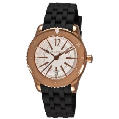 620-982 - Azzaro Men's Coastline Swiss Made Quartz Rubber Strap Watch