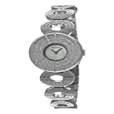 620-984 - Azzaro Women's Sparkling  Swiss Made Quartz Stainless Steel Bracelet Watch