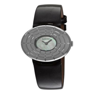 620-986 - Azzaro Women's Sparkling Swiss Made Quartz Leather Strap Watch