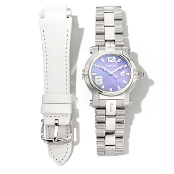 621-162 - Renato Women's Beauty Limited Edition Swiss Quartz Bracelet Watch w/ Extra Leather Strap