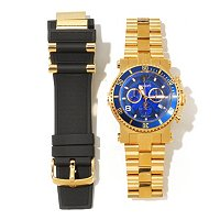 RENATO MEN'S BEAST DIVER INTERCHANGEABLE CHRONO BRACELET WATCH W/ EXTRA STRAP