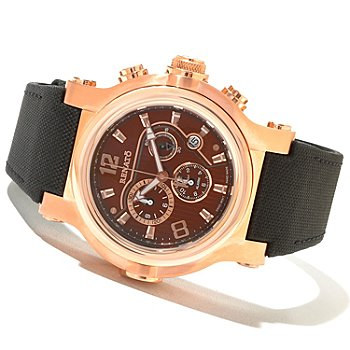 621-165 - Renato Men's T-Rex Sport Limited Edition Swiss Quartz Chronograph Canvas Strap Watch